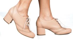Sapato Oxford Laser Nude