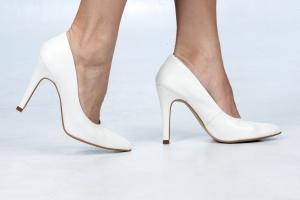 Scarpin Alto Clássico Couro Branco Premium
