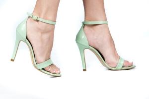 Sandália Gisele Alta Croco Verde Premium