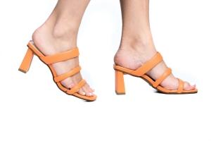 Tamanco 3 Tiras Orange